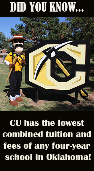 Did you know...CU has the lowest combined tuition and fees of any four-year school in Oklahoma!
